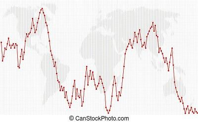 Business charts, Line-Dot Chart