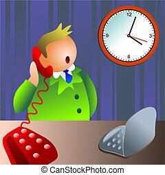 business chat - on the telephone