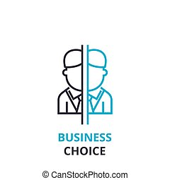 Business choice concept , outline icon, linear sign, thin line pictogram, logo, flat vector, illustration
