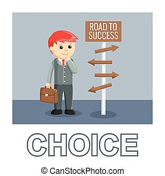 Business choice photo text style