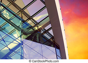 business, ciel, fond, bâtiments, architecture
