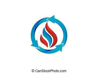 business circle arrow process finance vector logo
