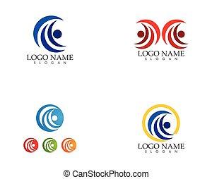 Business circle icon logo vector concept