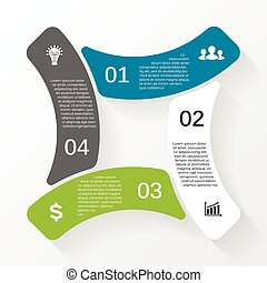 Business circle infographic, diagram with options - Layout ...