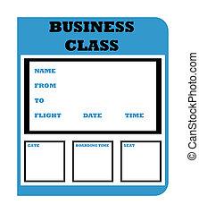 Business class boarding pass