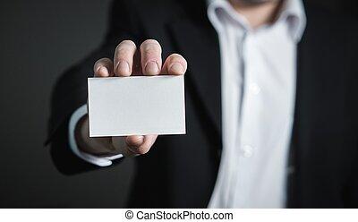 business, closeup, tenue, carte, homme
