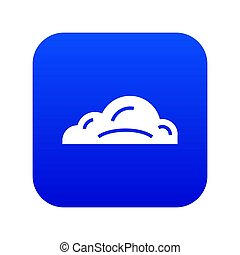 Business cloud icon blue