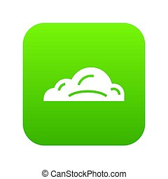 Business cloud icon green