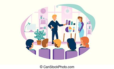 Business Coach Meeting Conference with Employees