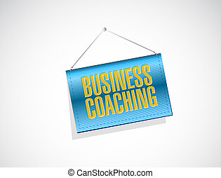 business coaching banner sign concept