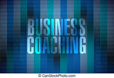 business coaching binary sign concept