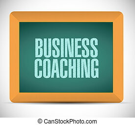 business coaching board sign concept