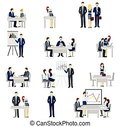 Business Coaching Icons Set - Business coaching icons set ...