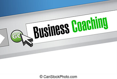 business coaching online sign concept