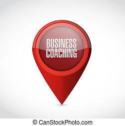business coaching pointer sign concept
