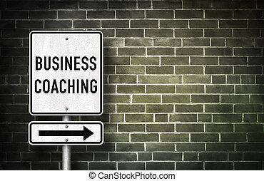 Business Coaching - road sign illustration