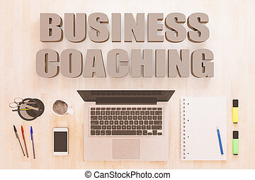 Business Coaching text concept