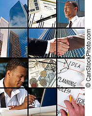 Business Collage - Collection and Collage of modern day...