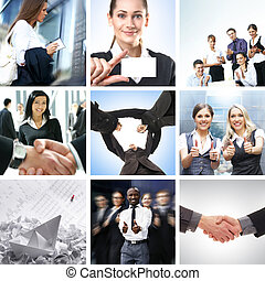 business, collage