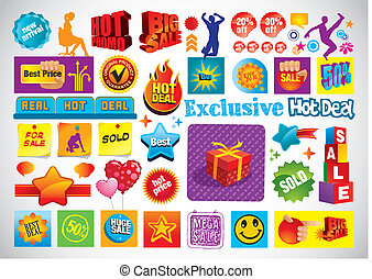 Business Collage - Vector collage with many business, sale...