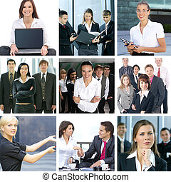 Business collage with people