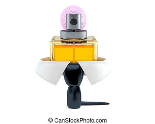 Business collar with perfume bottle