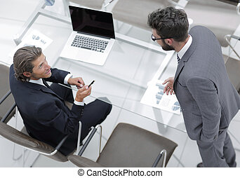 business colleagues in office