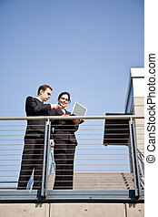 Business colleagues - A shot of two business colleagues...