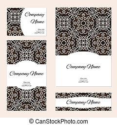 business, collection., ornement, cartes, ton, design.