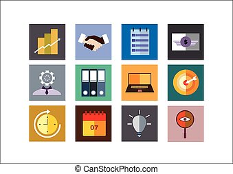 Business Color Flat Icons