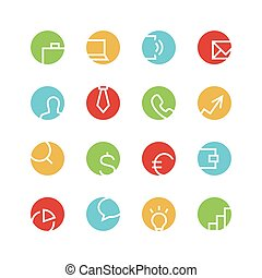 Business colored icon set