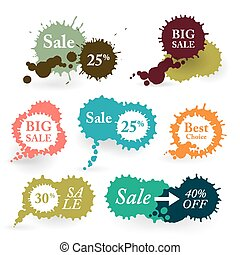 Business Colorful Vector Splashes