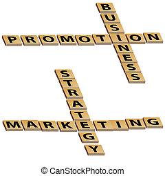 business, commercialisation, puzzle, stratégie, mots croisés...