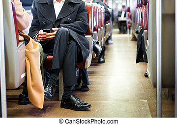 Business Commuters - Train of business commuters