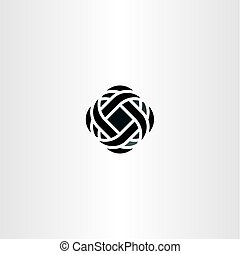business company logo abstract black icon symbol