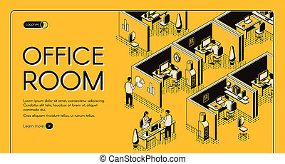 Business company office isometric website