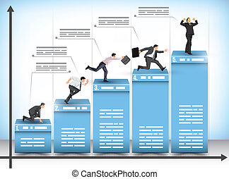 Business competition bar graph - Pictograph business ...