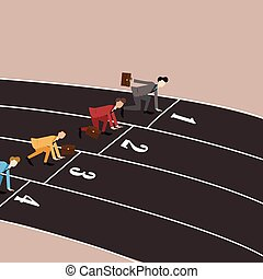business competition running in track
