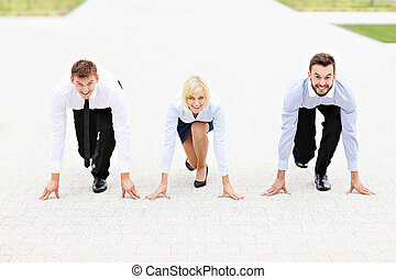 Business competition - A picture of a group of business...