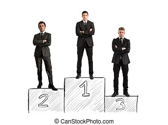Business competition - Concept of competition with...