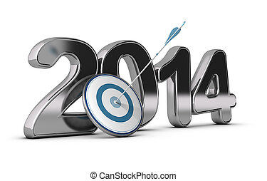 Business Concept - 2014 Objectives - 3D metallic Year 2014...