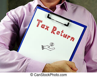 Business concept about Tax Return F with inscription on the page.