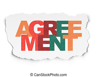 Business concept: Agreement on Torn Paper background