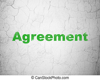 Business concept: Agreement on wall background