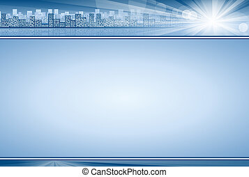 Business Concept Background Blue