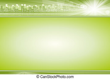 Business Concept Background Green