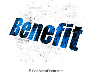 Business concept: Benefit on Digital background