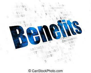 Business concept: Benefits on Digital background