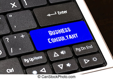 Business Concept - Blue Business Consultant Button on Slim