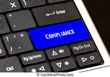 Business Concept - Blue Complianceg Button on Slim